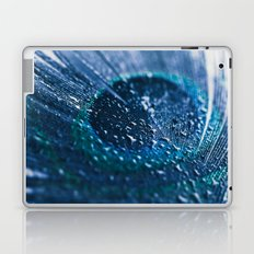 Peacock Feather Macro Waterdrops Laptop & iPad Skin