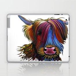 Scottish Highland Cow ' PoDGER ' by Shirley MacArthur Laptop & iPad Skin