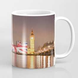 The Houses of Parliament covered in the Union Jack Flag Coffee Mug