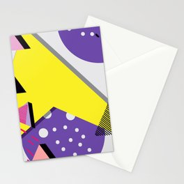 Memphis Design Pattern Stationery Cards