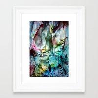 waterfall Framed Art Prints featuring WaterFall by ART de Luna