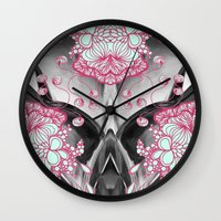 geode Wall Clocks featuring Geode 3 by michiko_design
