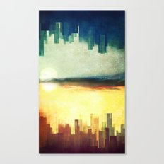 Parallel cities Canvas Print