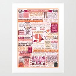 November Nine Collage Art Print