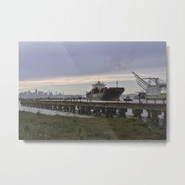 Port of Oakland Metal Print