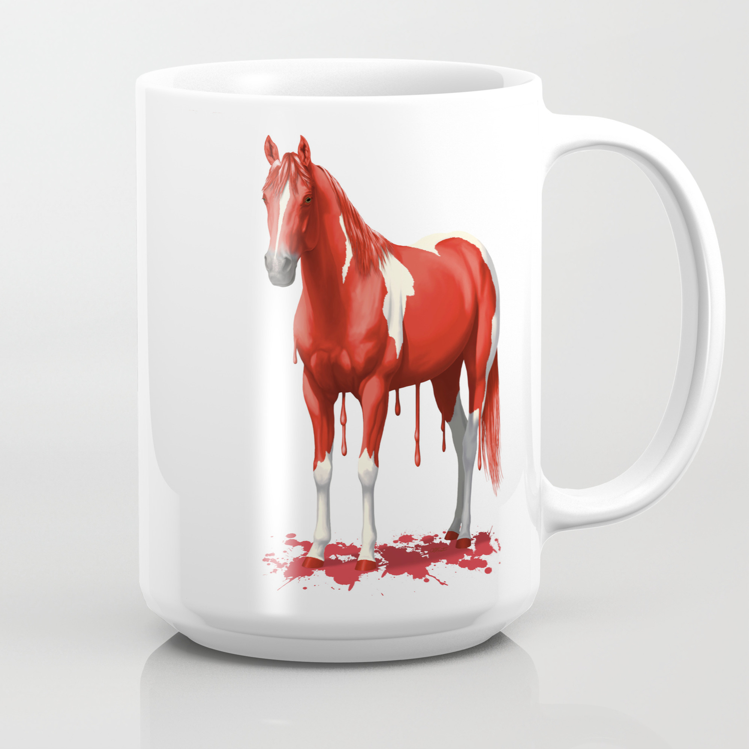 Bright Red Pinto Dripping Wet Paint Horse Coffee Mug By Csforest Society6