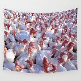 Turkey Farm  Wall Tapestry