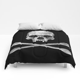 Jolly Roger Banner Comforters