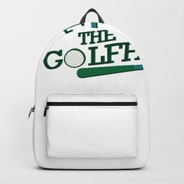 Golf Dad Funny Fathers Day Gift Backpack