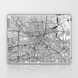 Houston White Map Laptop & iPad Skin