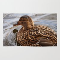 duck Area & Throw Rugs featuring Duck by GardenGnomePhotography