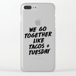Tacos + Tuesday Clear iPhone Case