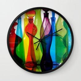 Blenko Reflections Wall Clock