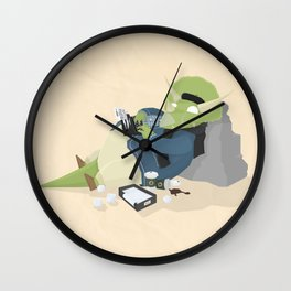 Hipster Dinosaur adds the latest chapters to his novel Wall Clock