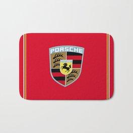 Porsche Automobile Emblem Bath Mat