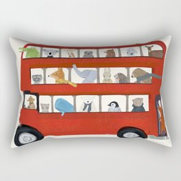 the big little red bus Rectangular Pillow