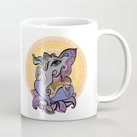 hindu Mugs featuring Hindu God Ganesha. Hand drawn illustration. by Katyau