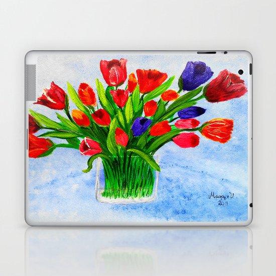 Short stem tulips Laptop & iPad Skin