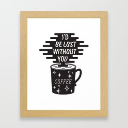 For the love of coffee Framed Art Print