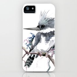 Belted Kingfisher, Gray design, Gray design iPhone Case