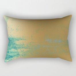 457 13 Teal and Gold Rectangular Pillow