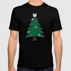 Merry Meow Mens Fitted Tee MEDIUM Black