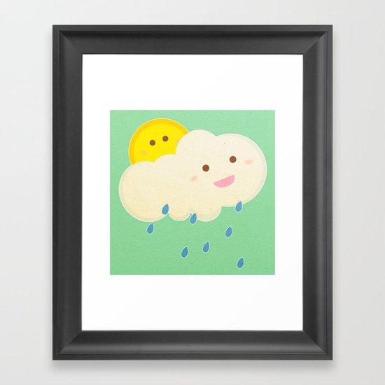 Raining day Framed Art Print