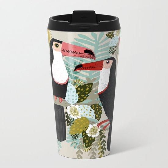 Toucans by Andrea Lauren  Metal Travel Mug
