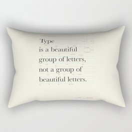 Typography Anatomy Rectangular Pillow
