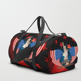 Independence Day, statue of Liberty Duffle Bag