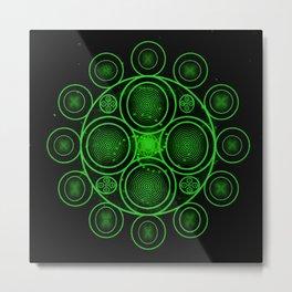Spiritual Equanimity 14 (Green) Metal Print