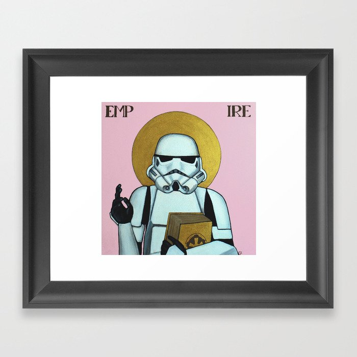 """EMPIRE"" - Star Wars, Stormtrooper Framed Art Print"