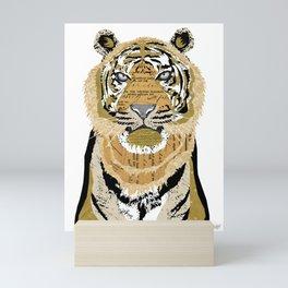 Tiger Collage Mini Art Print