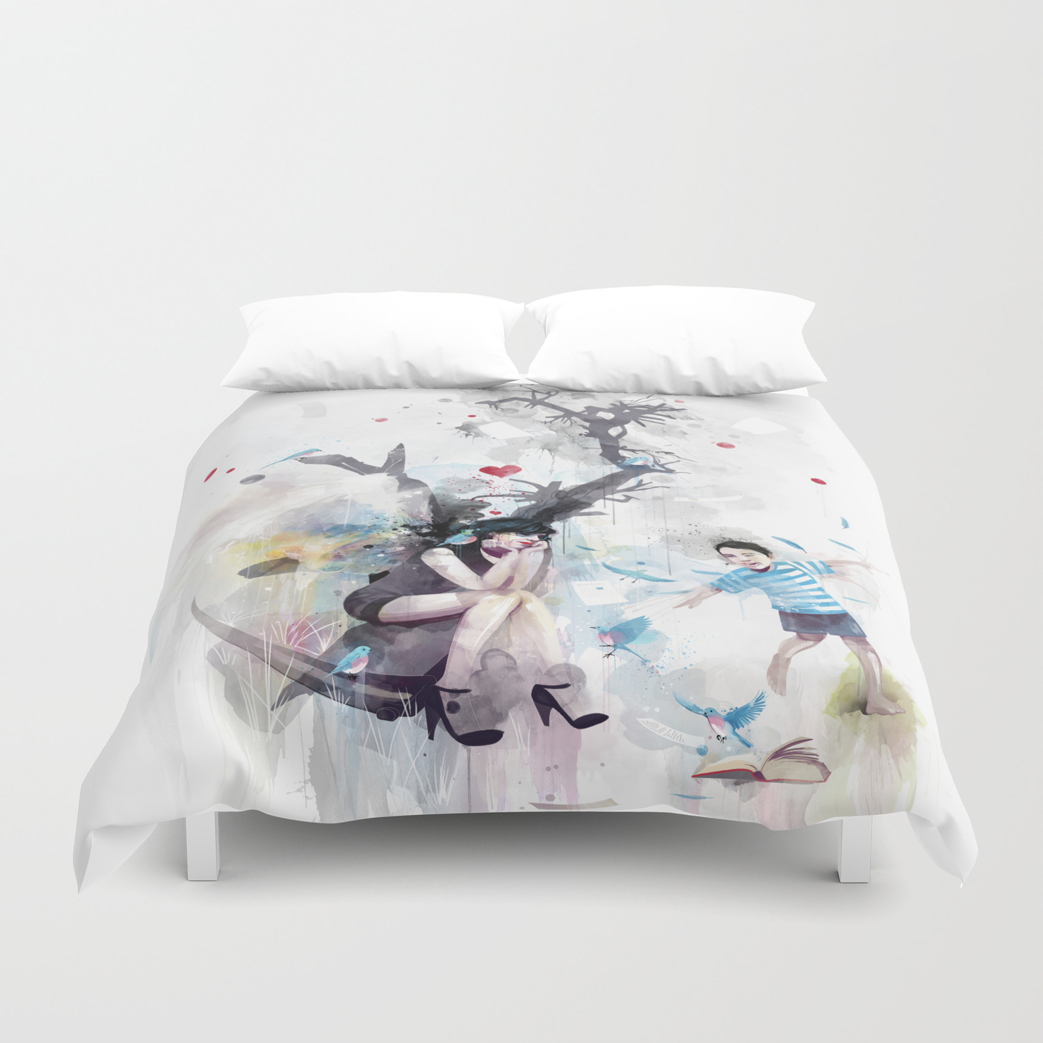 Zip A Dee Doo Death Duvet Cover By Travisclarke Society6