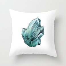 Turquoise Crystal Throw Pillow