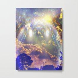 Space Clouds Metal Print