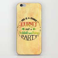 the hobbit iPhone & iPod Skins featuring Hobbit Party by Purrito Press