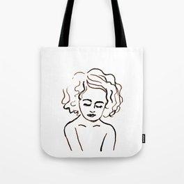 a girl in calm Tote Bag