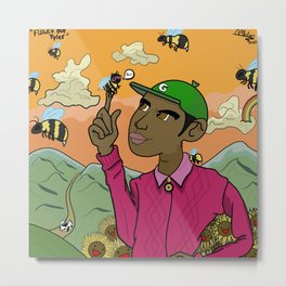 Flower Boy Tyler Metal Print