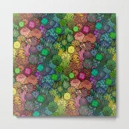 Succulent Rainbow Metal Print