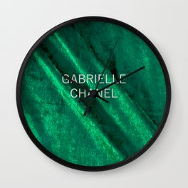 coco gabrielle green velvet edition Wall Clock