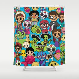 Latinx Pop Culture Shower Curtain