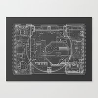 playstation Canvas Prints featuring PlayStation One  by Georg Bodenstein