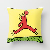 keith haring Throw Pillows featuring Air Haring by 2323