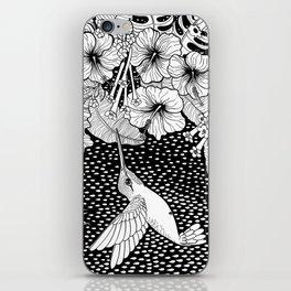 Hummingbird garden iPhone Skin