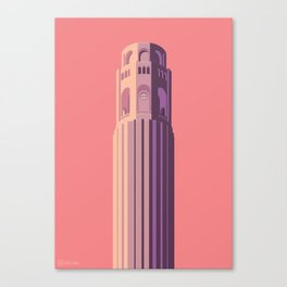 San Francisco Towers - 02 - COIT Tower (sunset version) Canvas Print