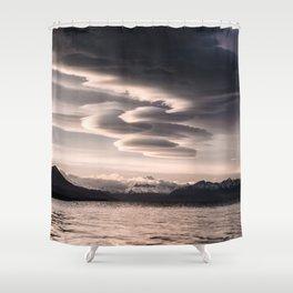 Lenticular Clouds Shower Curtain
