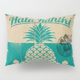 Hala Kahiki Juice Stand wooden board. Pillow Sham