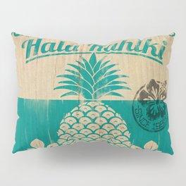 Hala Kahiki Juice Stand wooden board. Pillow Sham
