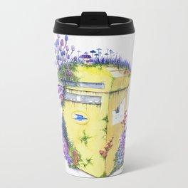 Growth on MailBox | Surrealistic Watercolor Painting by Stephanie Kilgast Metal Travel Mug